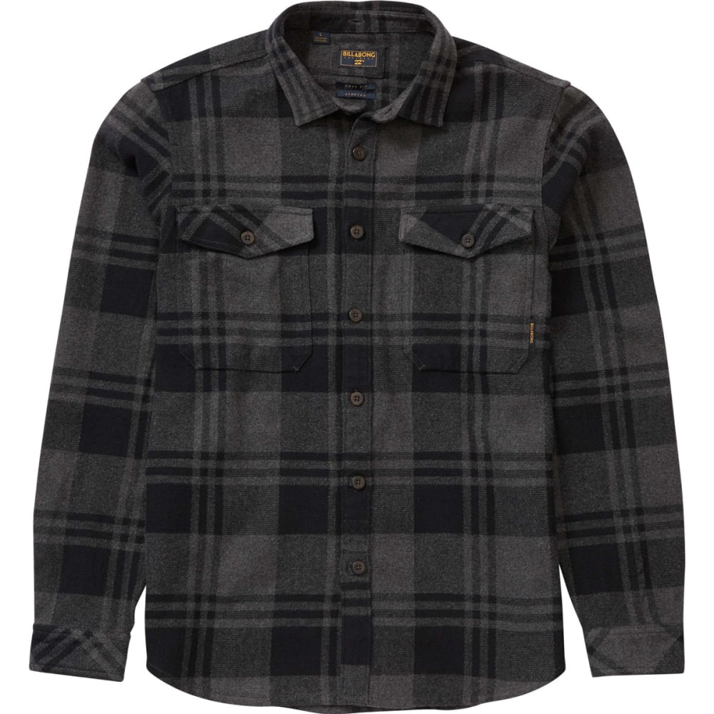 BILLABONG Men's Wilshire Flannel Shirt - BLK- BLACK