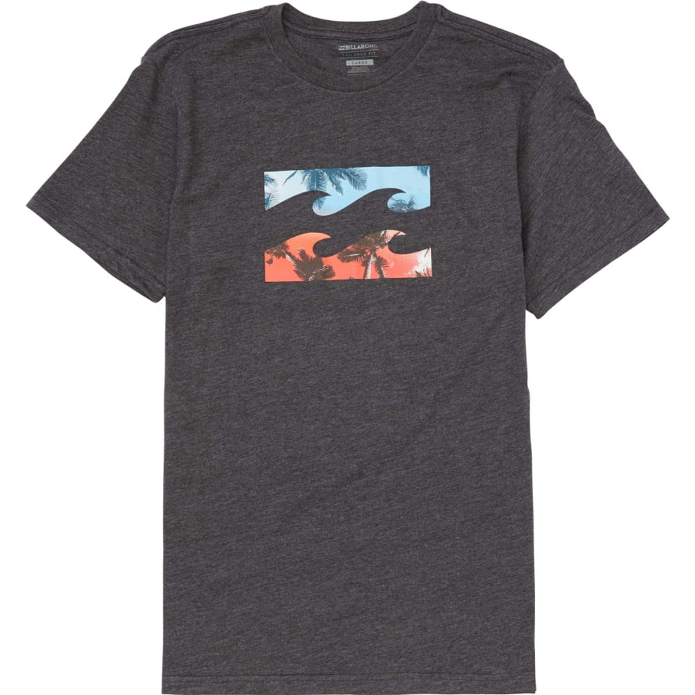BILLABONG Guys' Team Wave Short-Sleeve Tee - BKH- BLACK HEATHER
