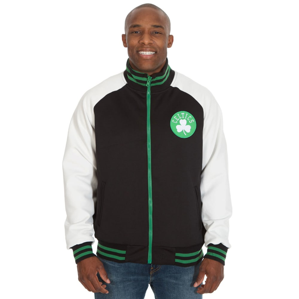 BOSTON CELTICS Men's Reversible Track Jacket - BLACK