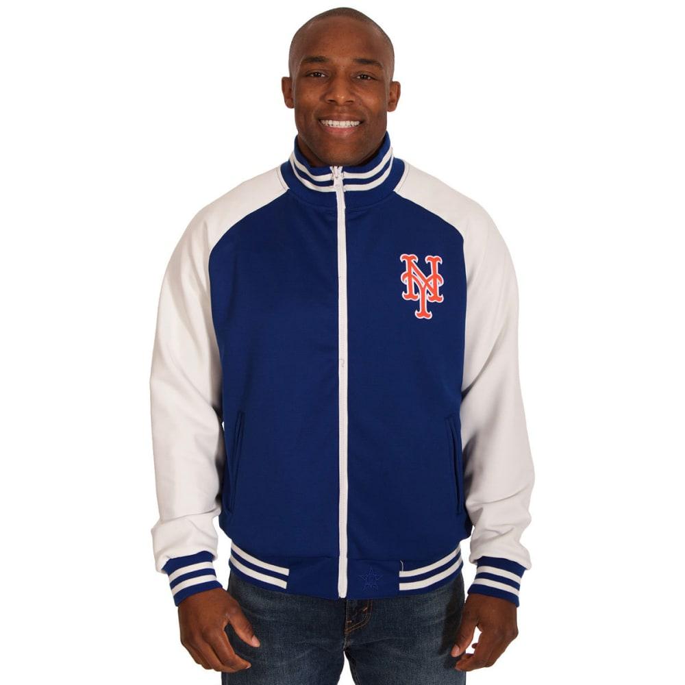 NEW YORK METS Men's Reversible Track Jacket - ROYAL/WHT