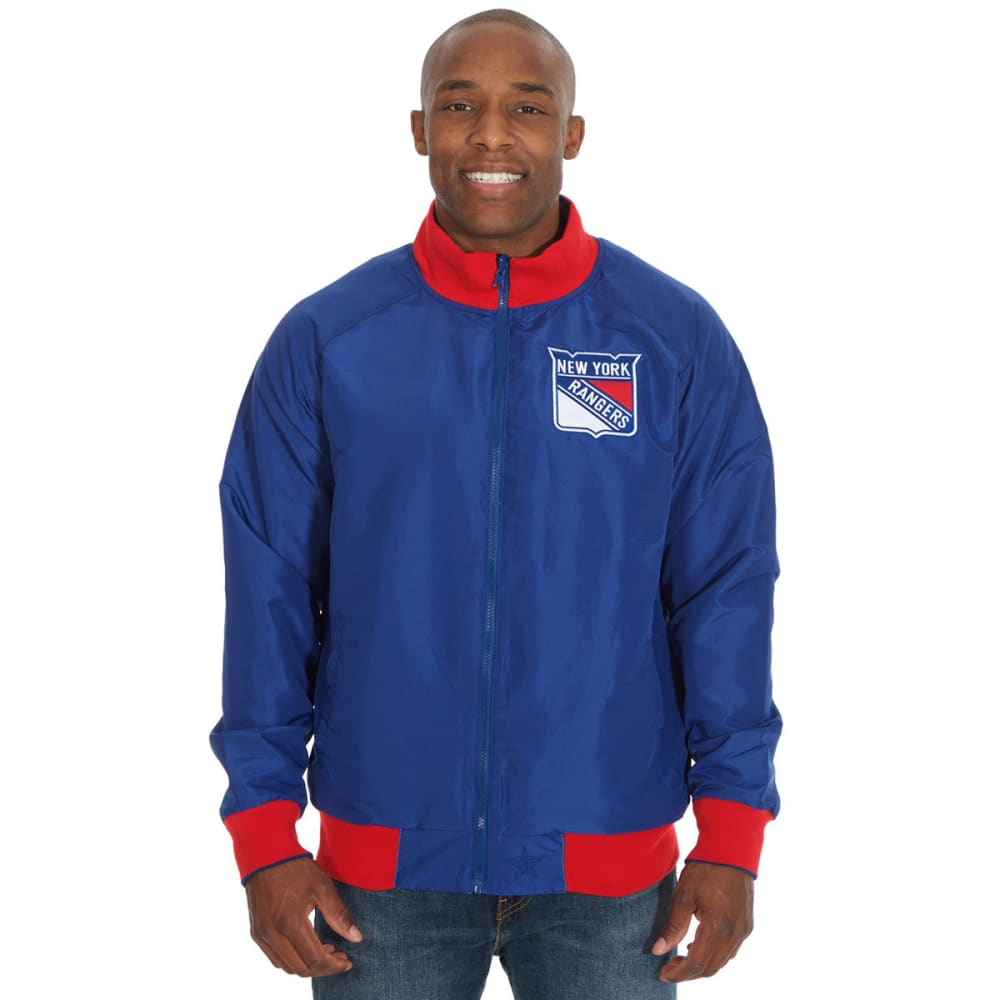 NEW YORK RANGERS Men's Reversible Track Jacket - GREY