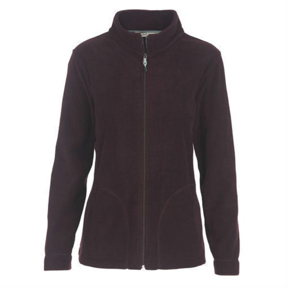 WOOLRICH Women's Andes Fleece Jacket - BURGUNDY