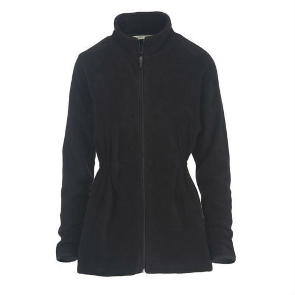 WOOLRICH Women's Andes Fleece Jacket, Long - BLACK