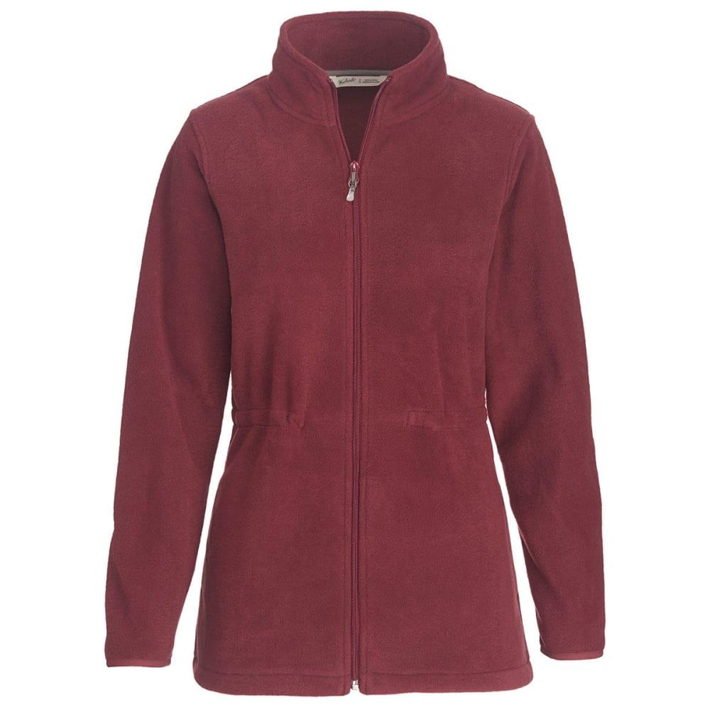 WOOLRICH Women's Andes Fleece Jacket, Long - OXBLOOD RED