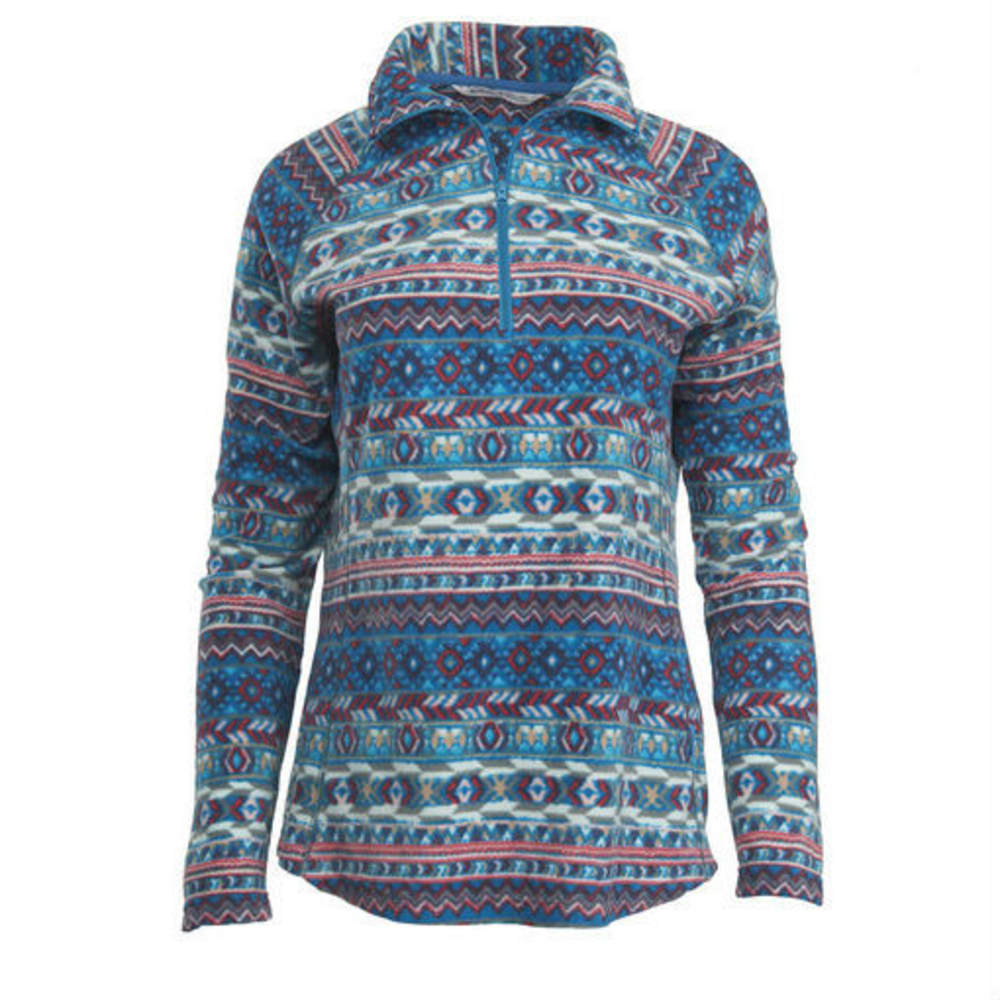 WOOLRICH Women's Colwin Printed Fleece Half-Zip Pullover - SEAPORT