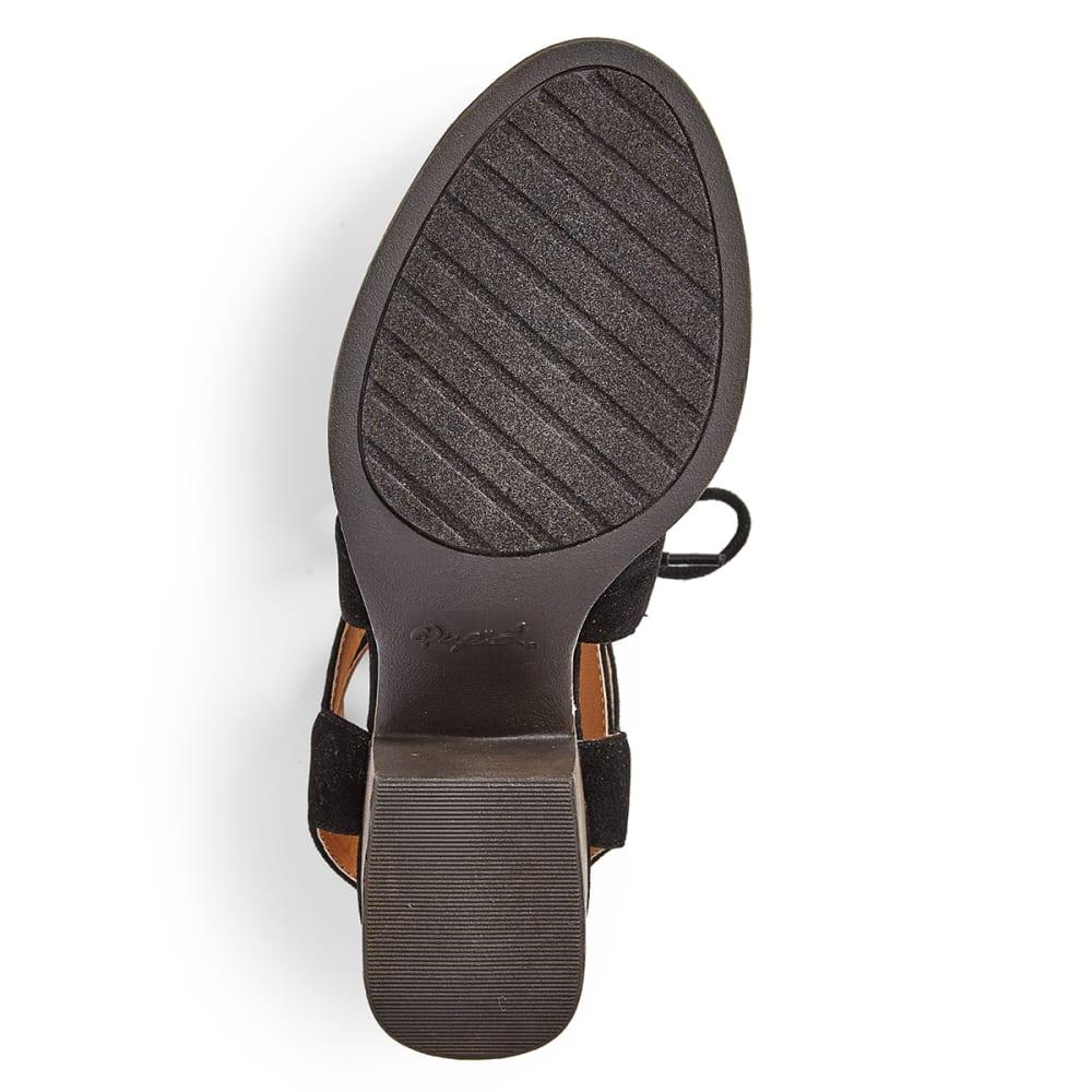 QUPID Women's Core-07 Ghillie Shoes - BLACK
