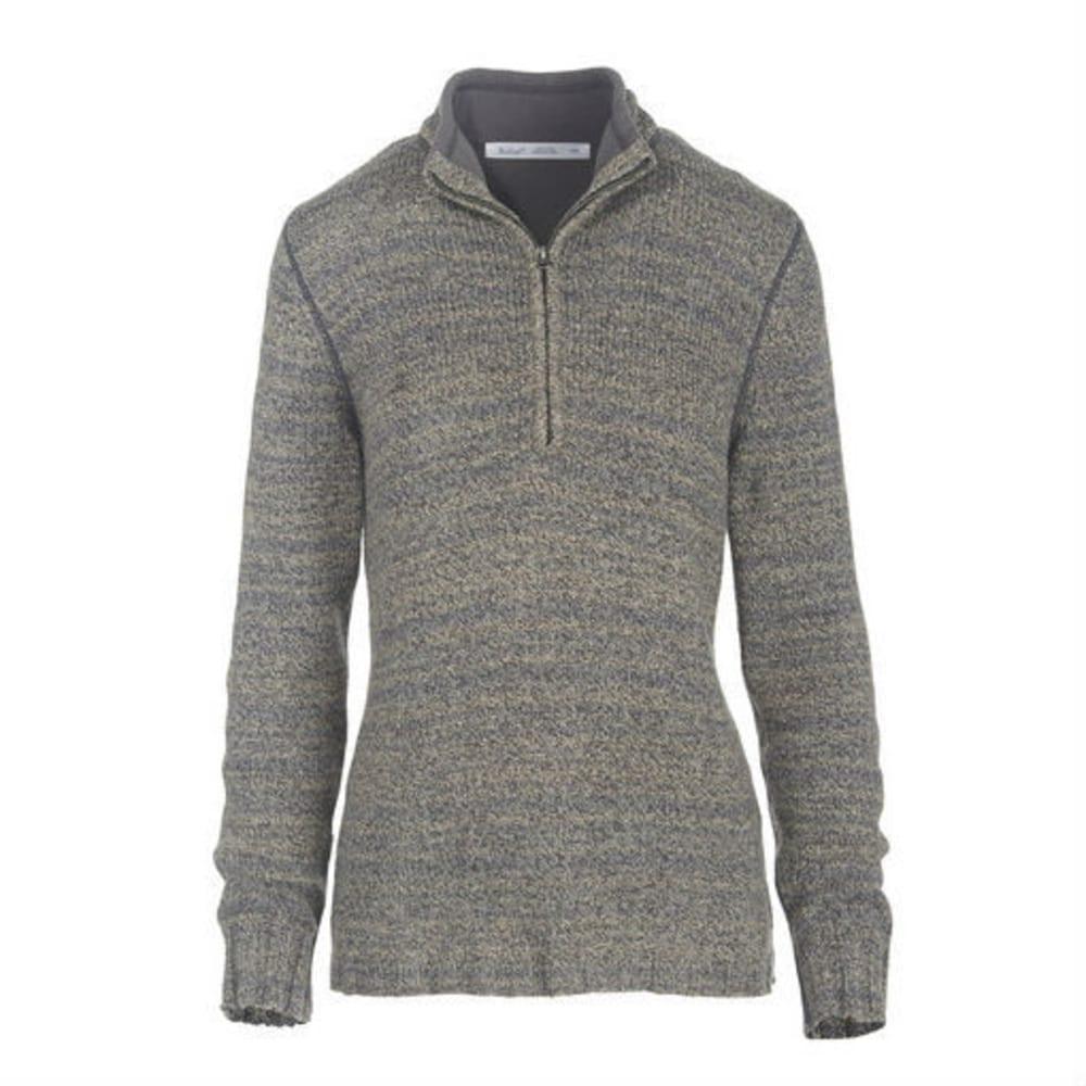 WOOLRICH Women's Tanglewood 3/4 Zip Sweater - MATTE GRAY HEATHER