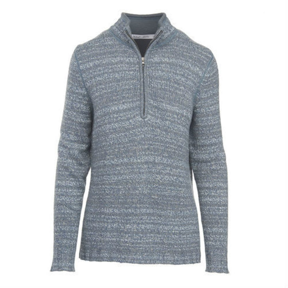WOOLRICH Women's Tanglewood 3/4 Zip Sweater - LIGHT MAJOLICA HEATH