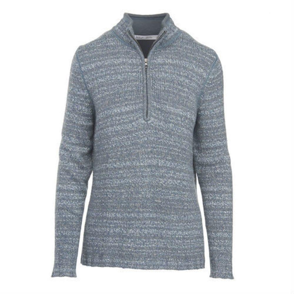 WOOLRICH Women's Tanglewood 3/4 Zip Sweater - LIGHT MAJOLICA HEATH
