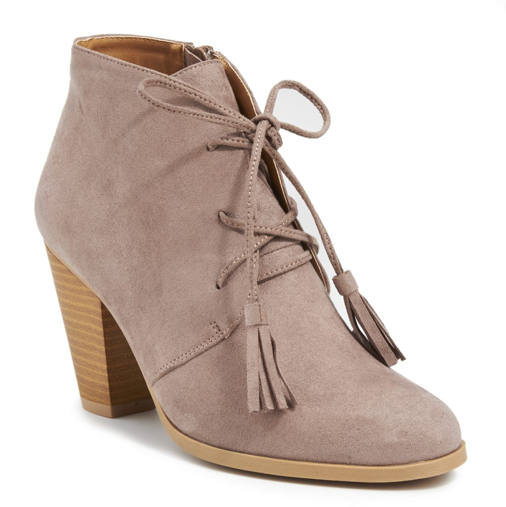 QUPID Women's Nixon-14 Booties - TAUPE