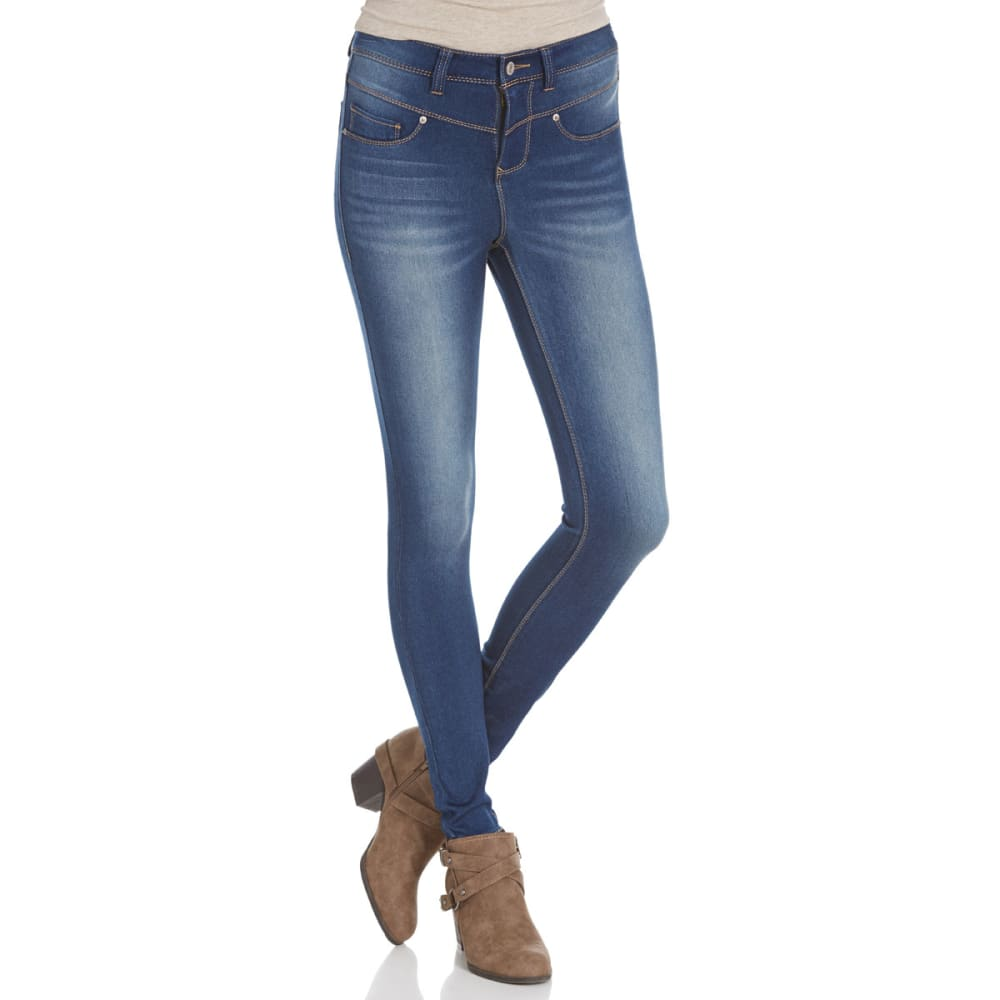 VANILLA STAR Juniors' Super Soft V-Yoke High-Waist Jeans - -2 SKYLAR