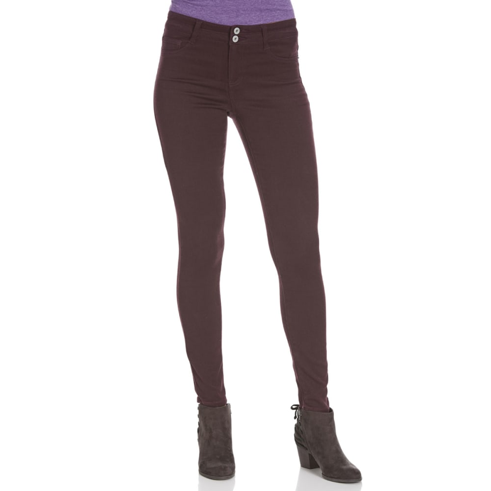 VANILLA STAR Juniors' Double-Bottom Moleton Pants - -3 DARK PURPLE