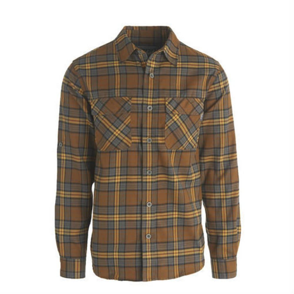 WOOLRICH Men's Hiker's Trail Flannel Shirt - CHICORY