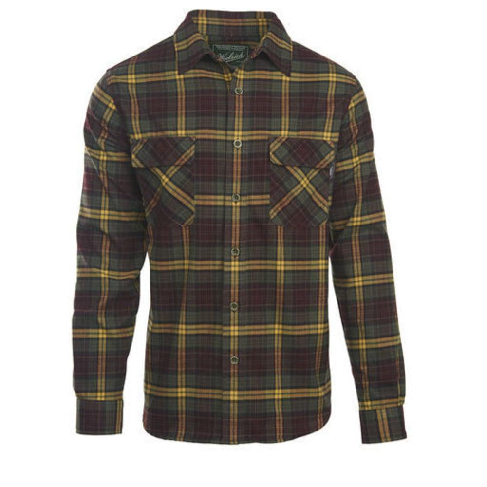 WOOLRICH Men's Hiker's Trail Flannel Shirt - DARK PLUM