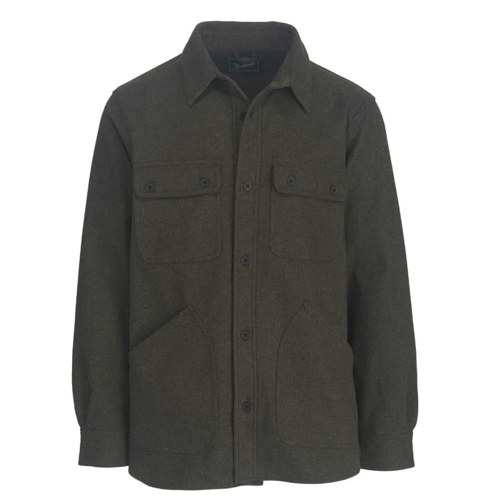 WOOLRICH Men's West Ridge Shirt Jac - BLACK HEATHER