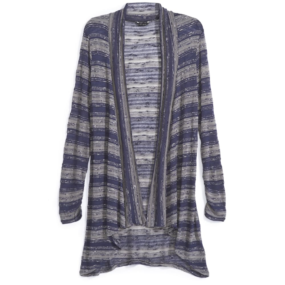 COUPÉ COLLECTION Women's Striped Open Cardigan - NAVY