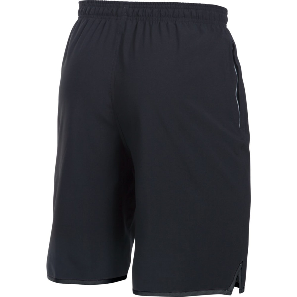 UNDER ARMOUR Men's 9 in. Qualifier Woven Shorts - BLACK/STEEL-001