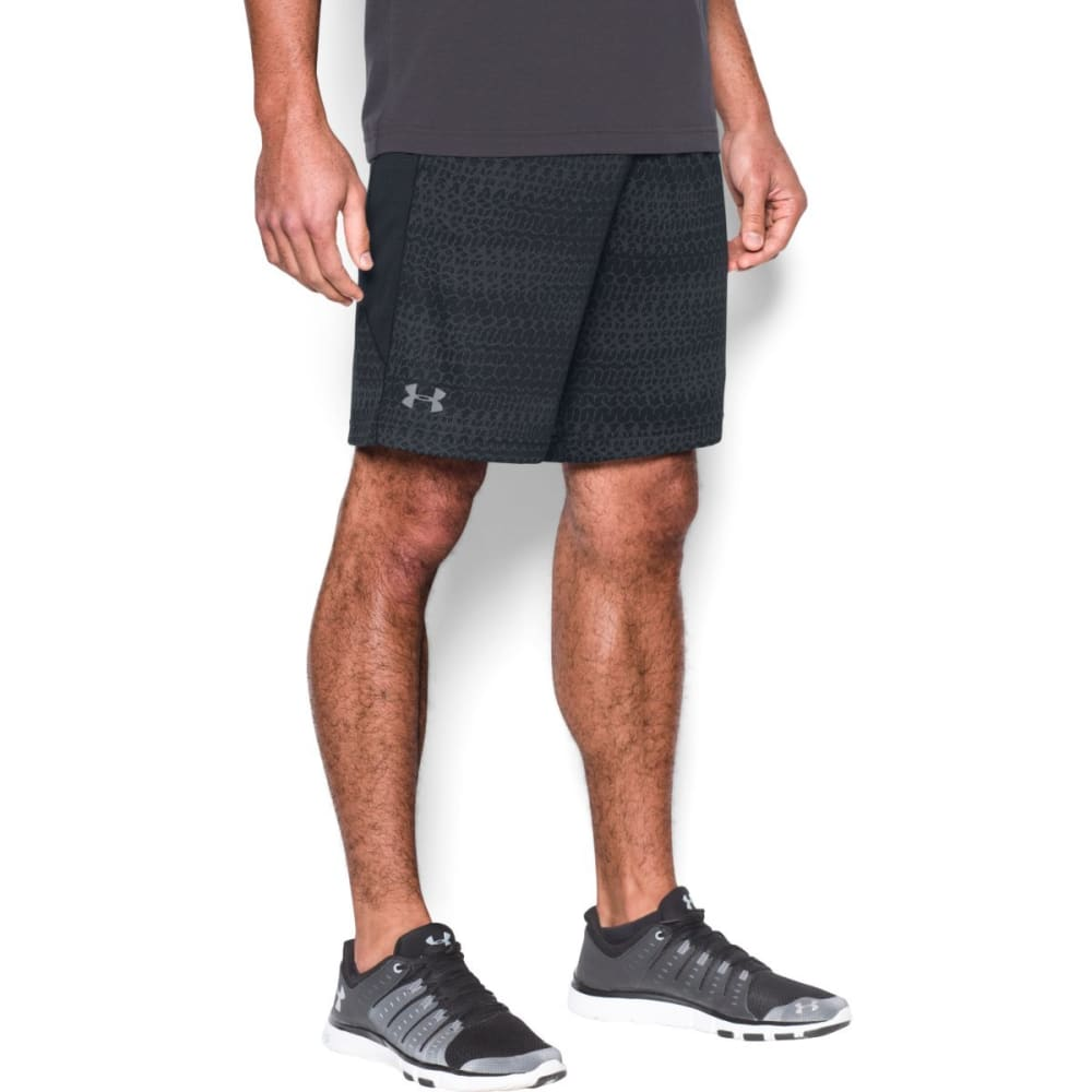 UNDER ARMOUR Men's Raid Jacquard Shorts - BLACK/GRAPHITE-001