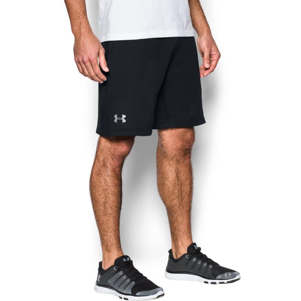 UNDER ARMOUR Men's Tech Terry Shorts - BLACK/SILVER-001