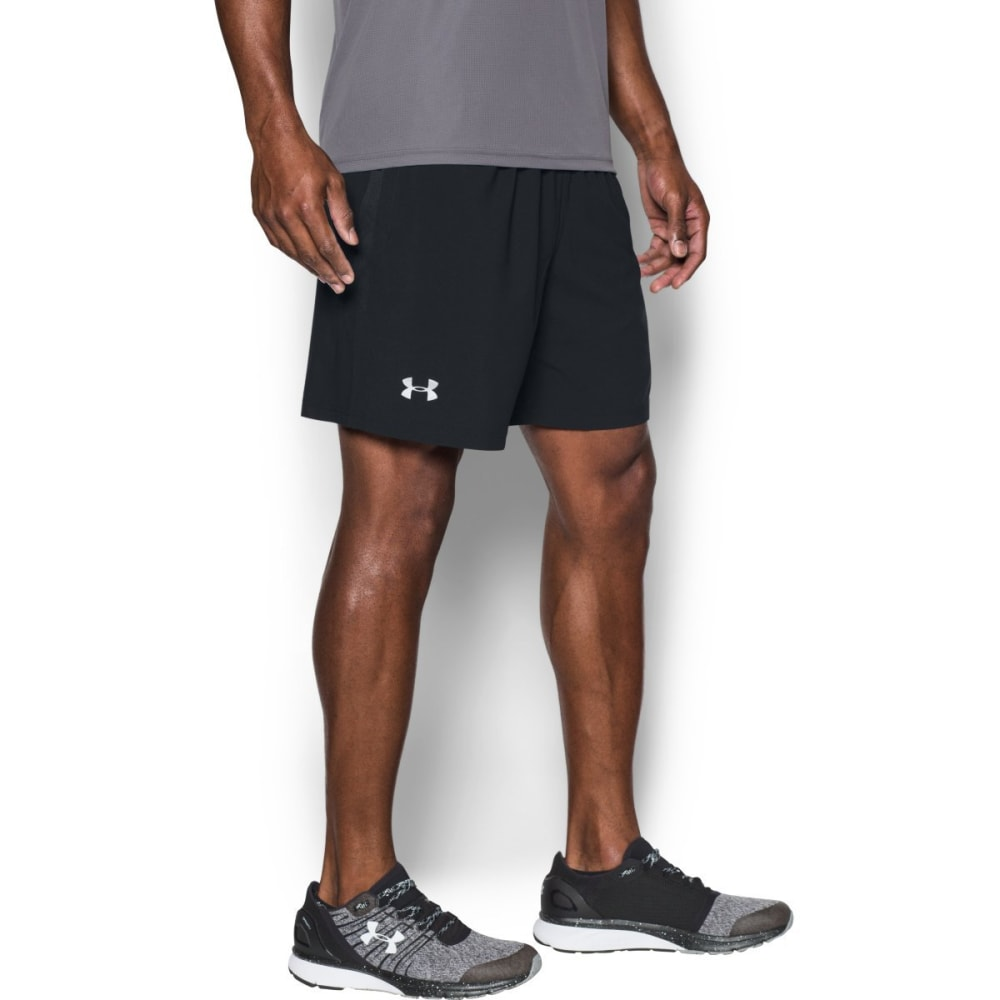 UNDER ARMOUR Men's 7 in. Launch Stretch Woven Running Shorts - BLACK-001