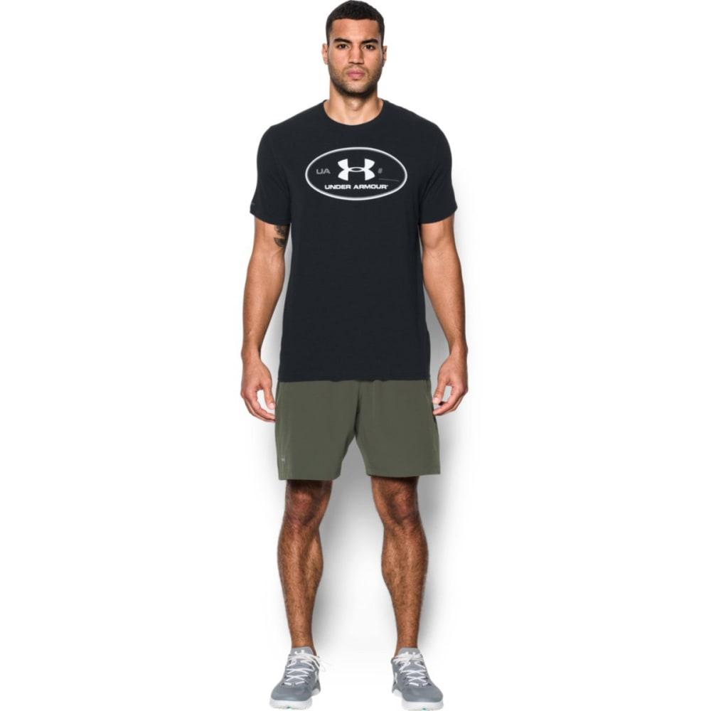 UNDER ARMOUR Men's Locker Tag Short-Sleeve Tee - BLACK/STEEL/WHT-001