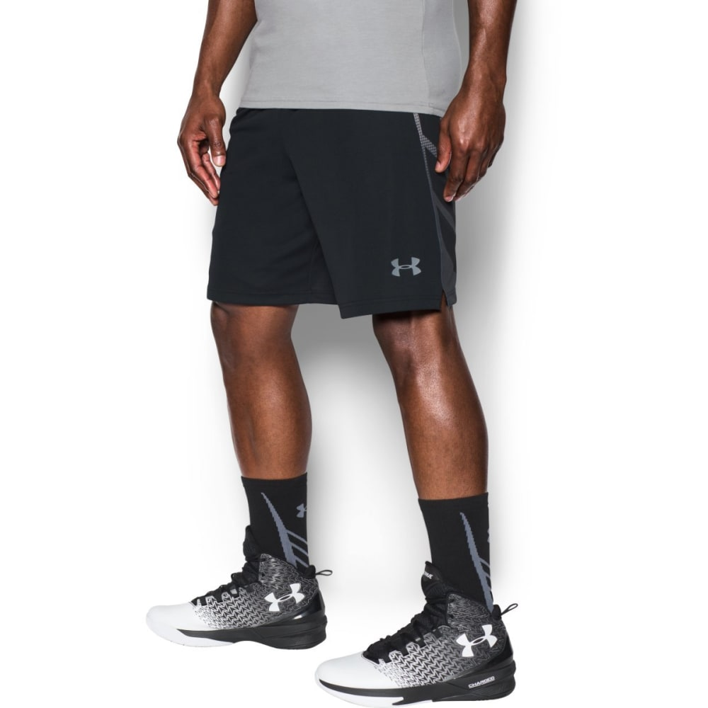 UNDER ARMOUR Men's 9 in. Select Basketball Shorts - BLACK/STEEL-001