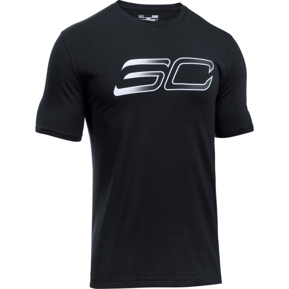 UNDER ARMOUR Men's SC30 Faded Logo Tee - BLACK/STLTH/WHT-001