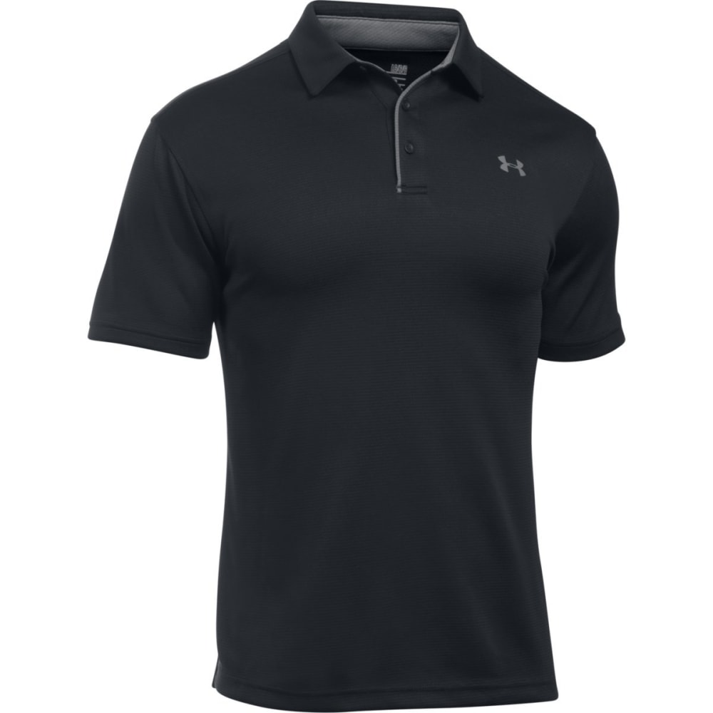 UNDER ARMOUR Men's Tech Polo - BLACK/GRAPHITE-001