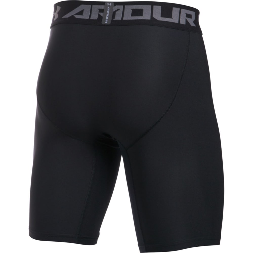 UNDER ARMOUR Men's HeatGear Armour Long Compression Shorts - BLACK-001