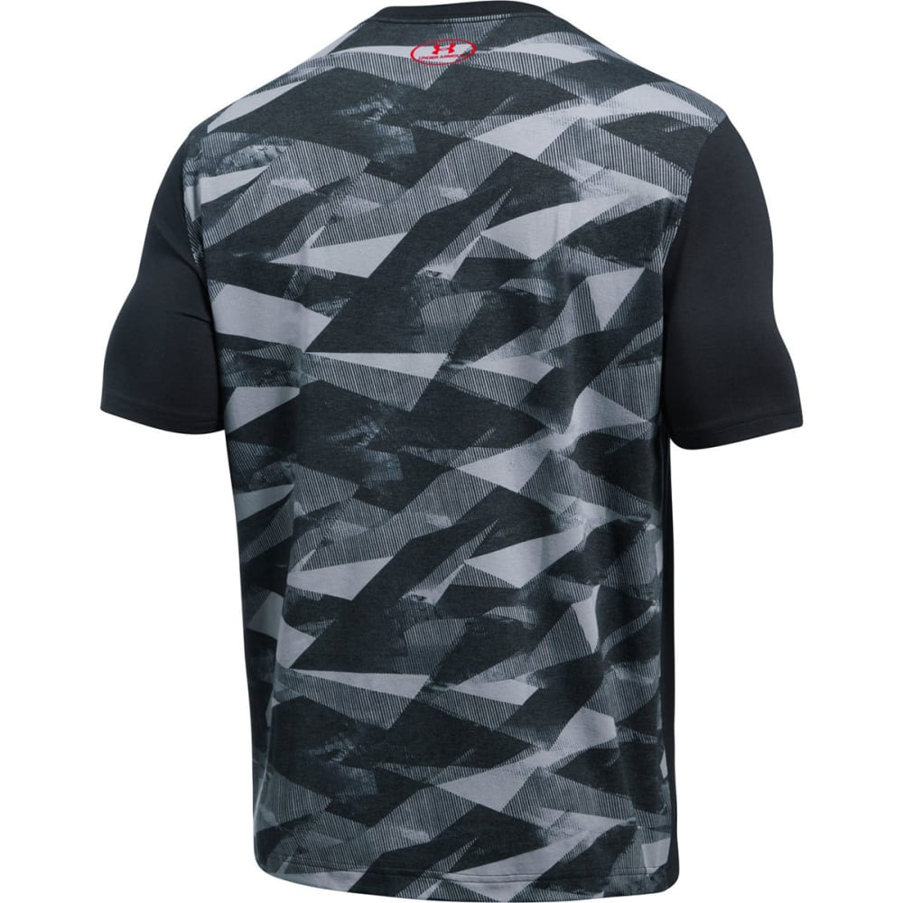 UNDER ARMOUR Men's SC30 Blessed with Game Short-Sleeve Tee - BLACK/RED-001