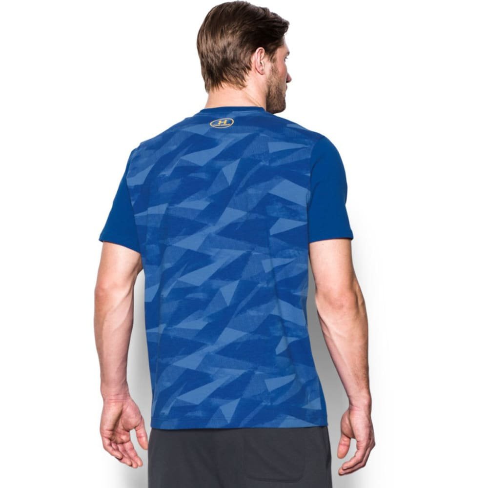 UNDER ARMOUR Men's SC30 Blessed with Game Short-Sleeve Tee - ROYAL/TAXI-400