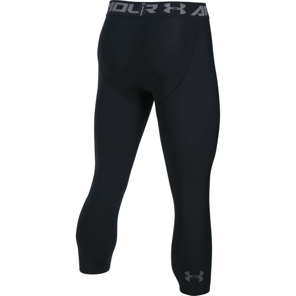 UNDER ARMOUR Men's HeatGear Armour ¾ Leggings - BLACK-001