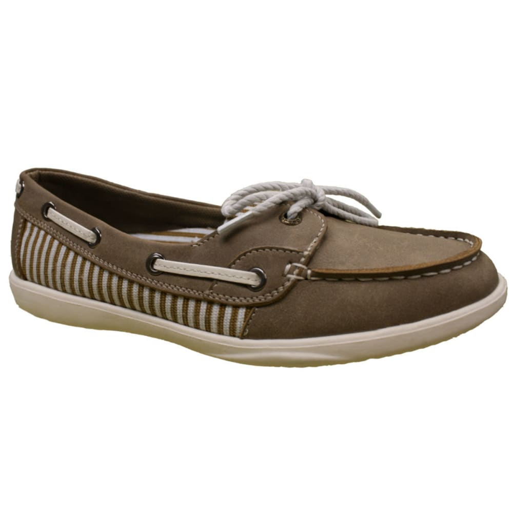 ISLAND SURF Women's Captiva Boat Shoes - TAN