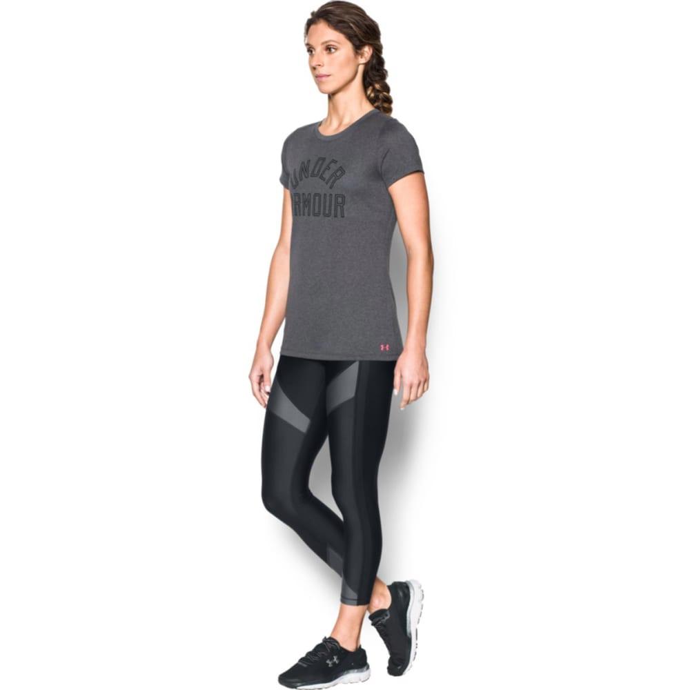 UNDER ARMOUR Women's UA Tech Wordmark Short-Sleeve Tee - CBH/PINK SHOCK-091