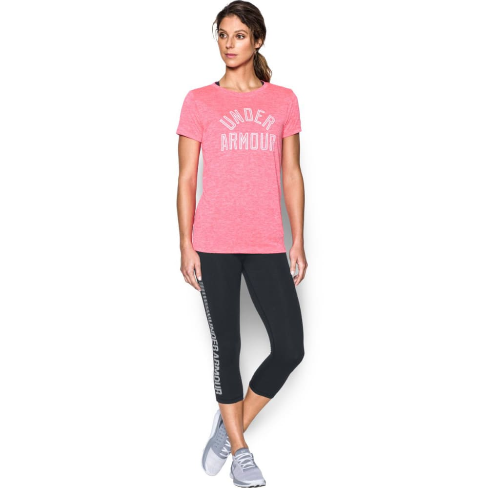 UNDER ARMOUR Women's UA Tech Twist Graphic Short-Sleeve Tee - PINK SHOCK/WHITE-683