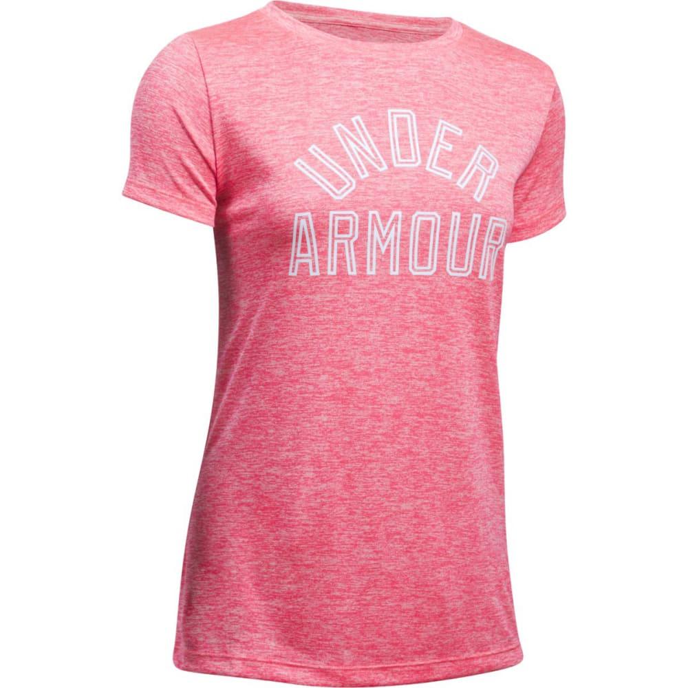 UNDER ARMOUR Women's UA Tech Twist Graphic Short-Sleeve Tee - PINK SHOCK/WHITE-683