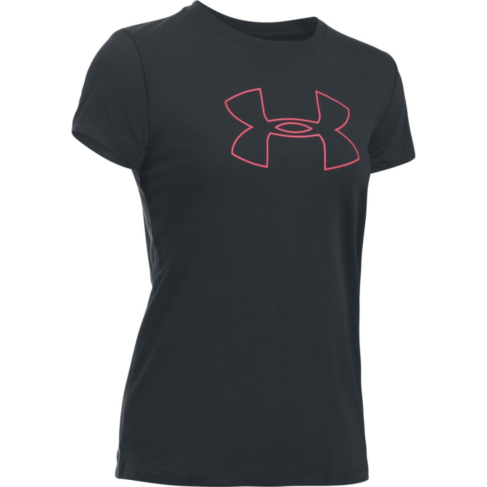 UNDER ARMOUR Women's Big Logo Short Sleeve Tee - ANTHRACITE/PINK-016