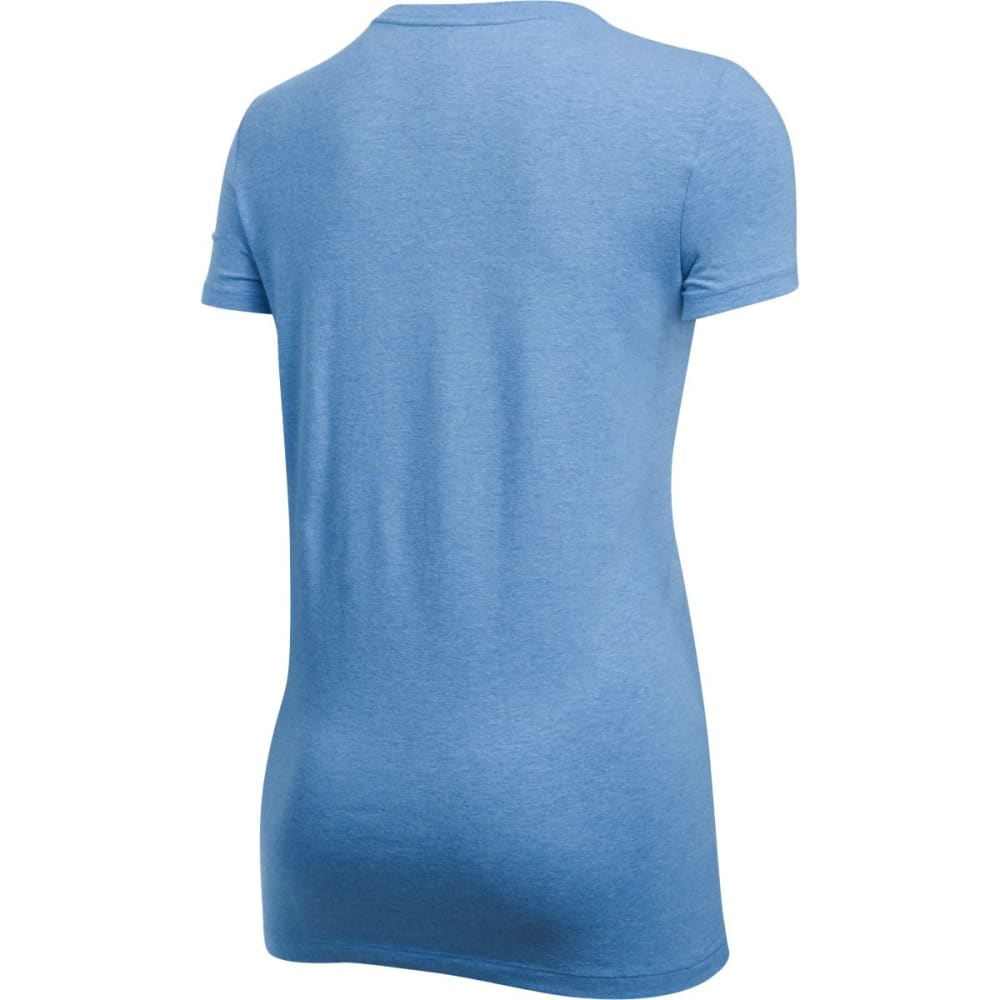 UNDER ARMOUR Women's Big Logo Short Sleeve Tee - MEDITERRANIAN/NV-439