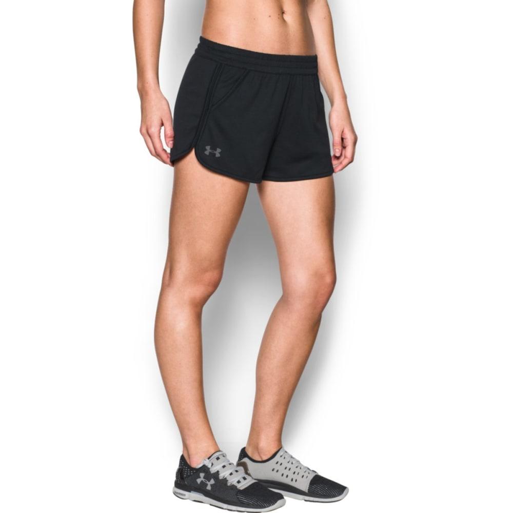 UNDER ARMOUR Women's Solid Tech Shorts - BLACK-001