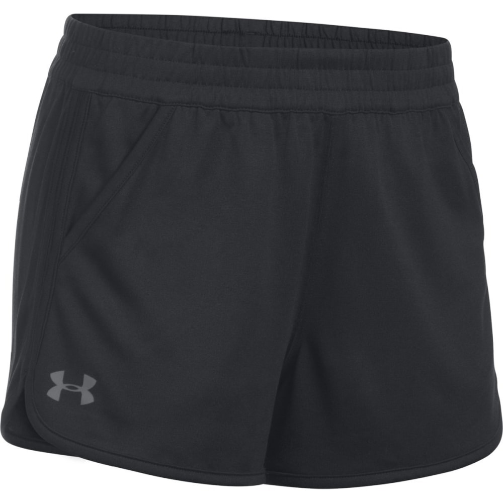 UNDER ARMOUR Women's Solid Tech Shorts - BLACK-001