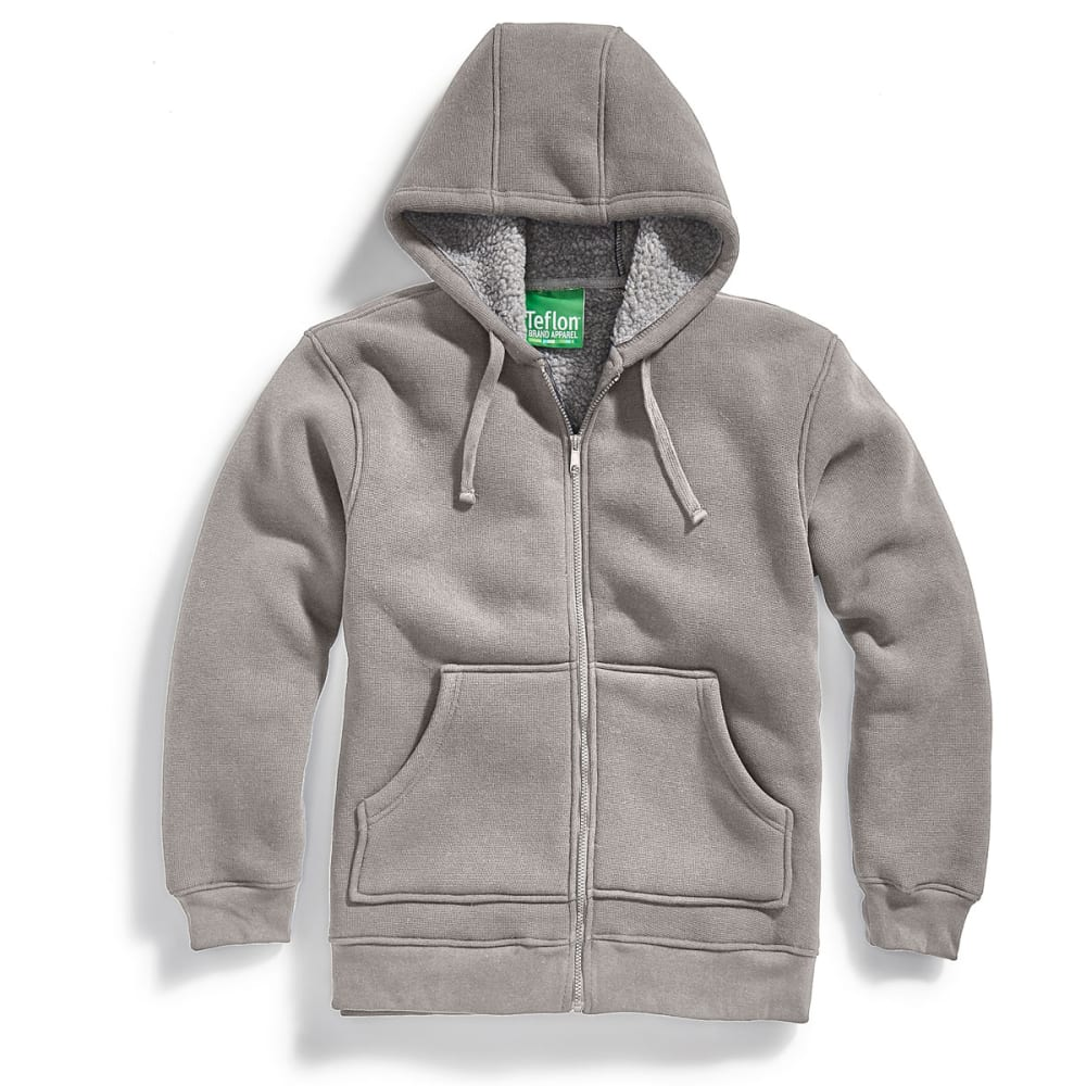 UTILITY PRO WEAR Men's Pique Fleece Hoodie - HEATHER GRAY