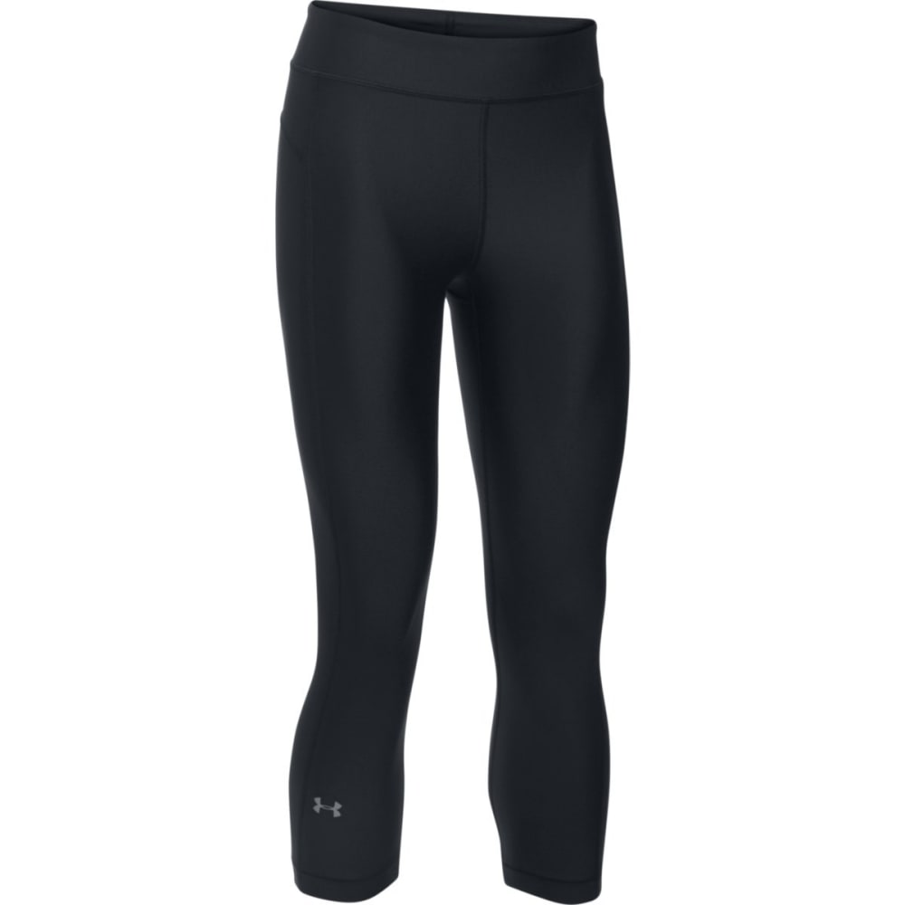 UNDER ARMOUR Women's HeatGear® Armour Capri Leggings - BLACK-001