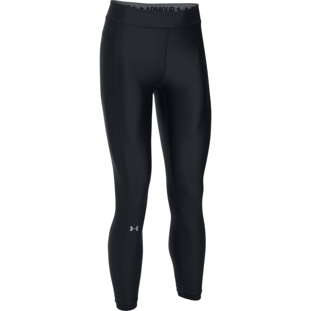 UNDER ARMOUR Women's HeatGear Armour Ankle Crop Leggings - BLACK-001
