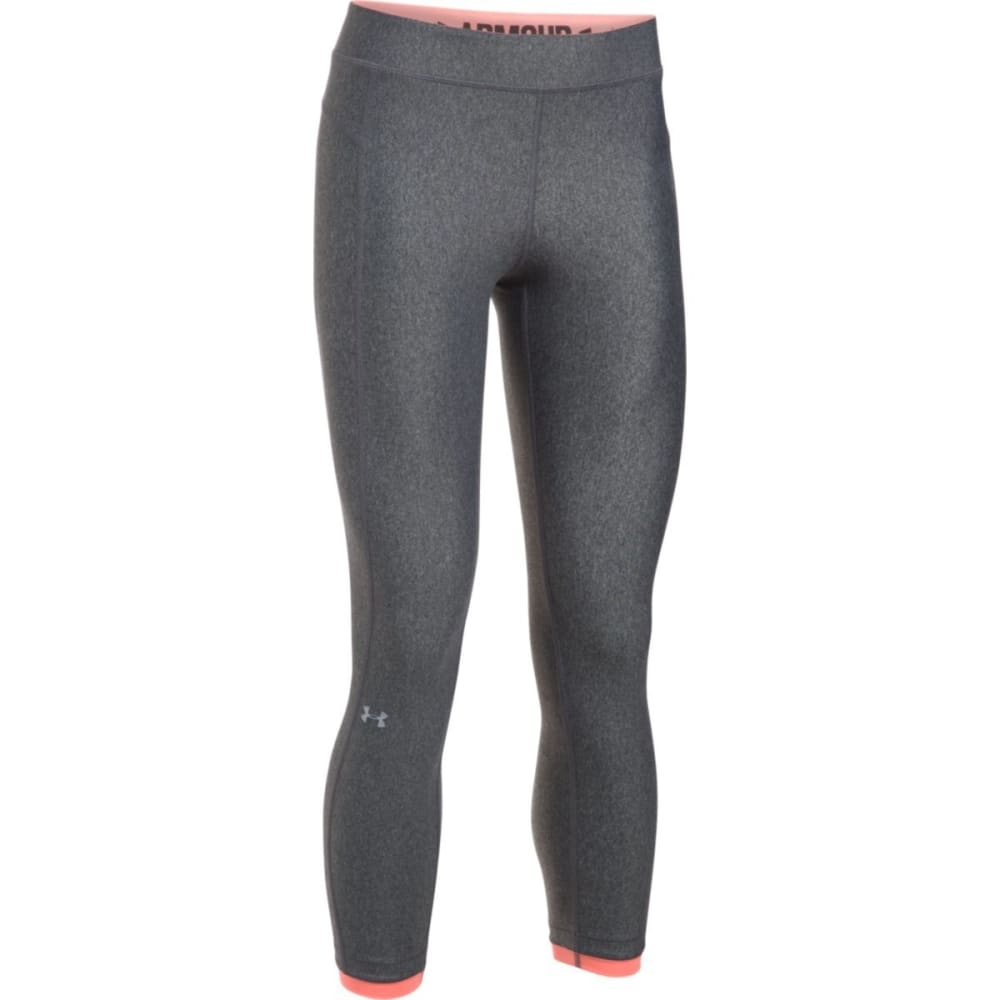 UNDER ARMOUR Women's HeatGear Armour Ankle Crop Leggings - GRAPHITE-092