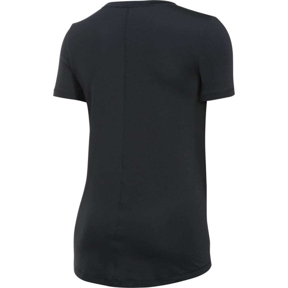 UNDER ARMOUR Women's HeatGear Armour Short-Sleeve Shirt - BLACK-001