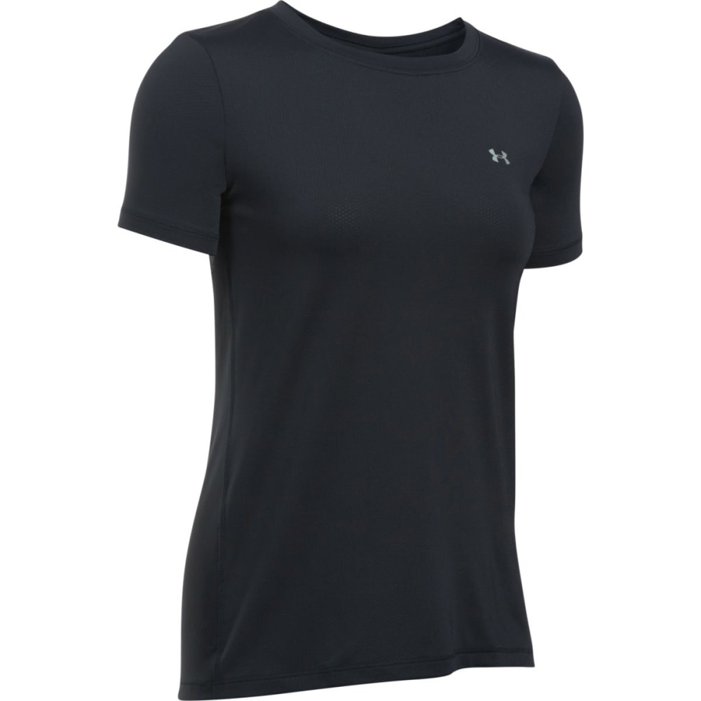 UNDER ARMOUR Women's HeatGear Armour Short-Sleeve Shirt - BLACK-001