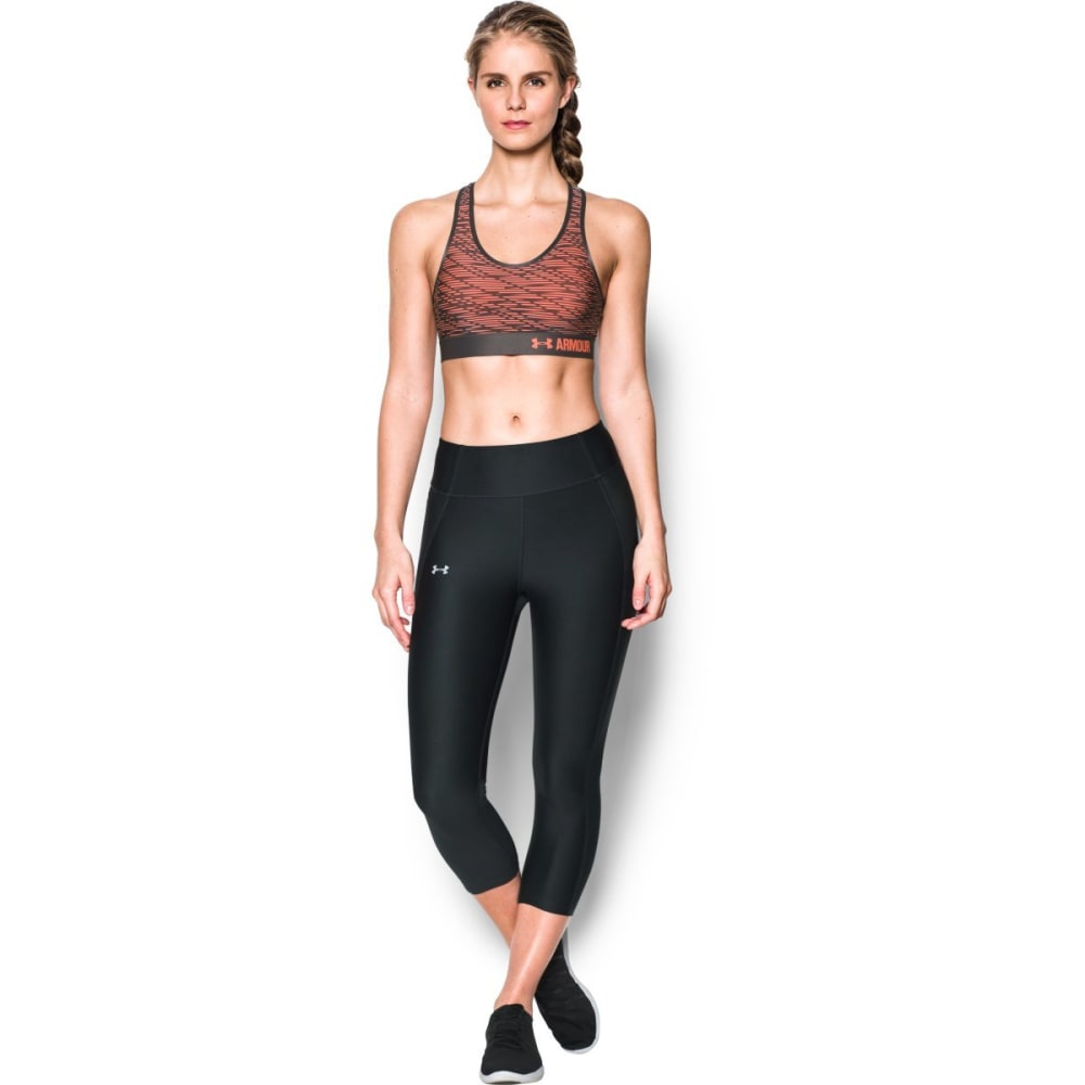 UNDER ARMOUR Women's Armour Mid Printed Sports Bra - LONDON ORG/CHAR-404