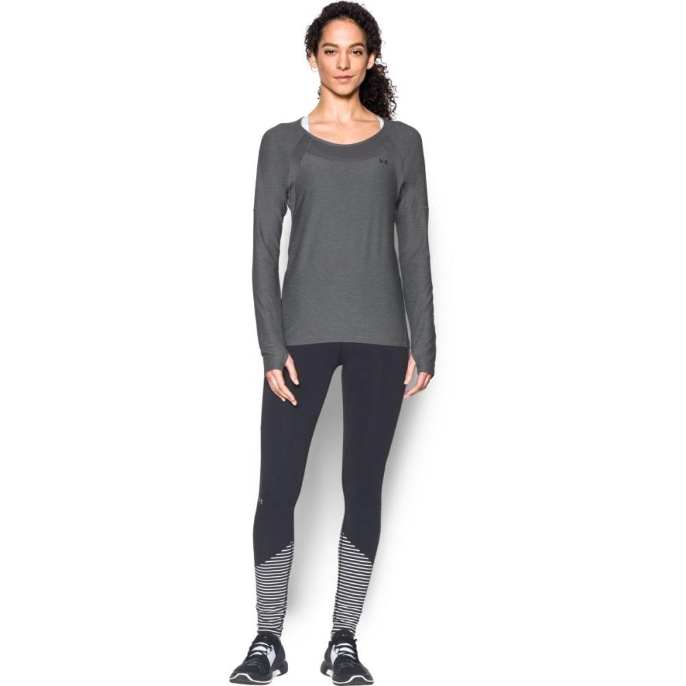 UNDER ARMOUR Women's Armour Sport Twist Long-Sleeve Shirt - GRAPHITE-040