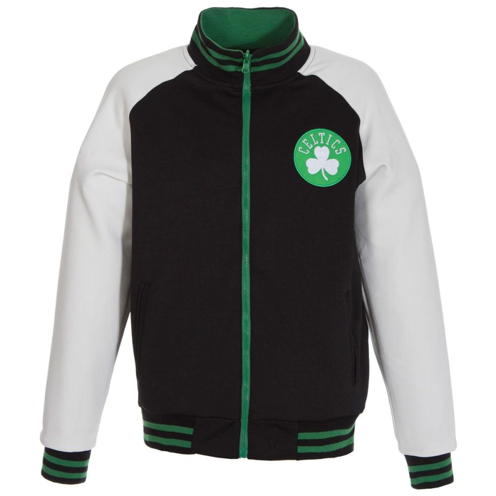 BOSTON CELTICS Boys' Track Jacket - BLACK/WHITE