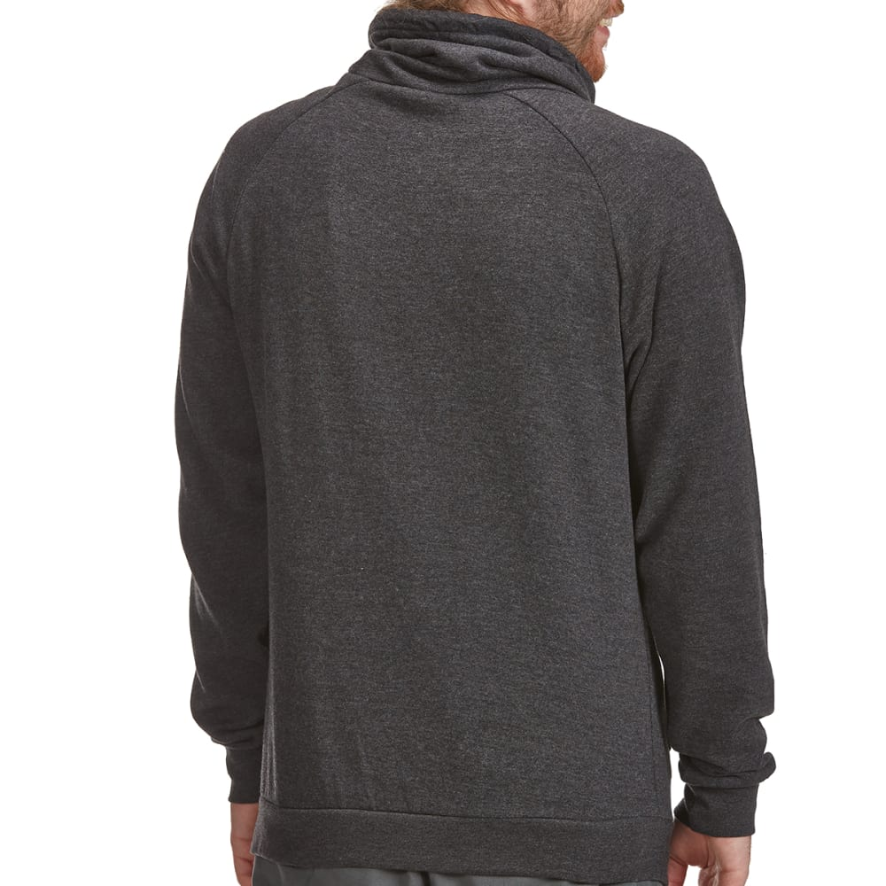 BURNSIDE Guys' Cowl Neck Pullover - C-CHARCOAL